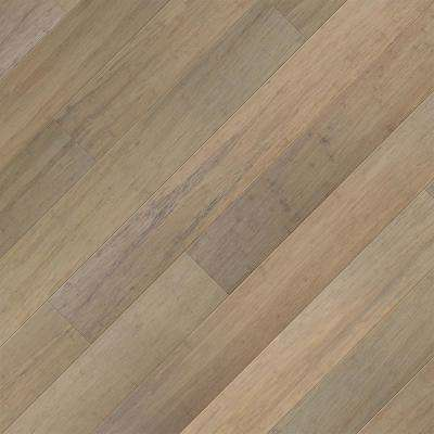 Take Home Sample - Brushed Matt Strand Woven Canyon Click Lock SPC WR Bamboo Flooring - 5 in. x 7 in.