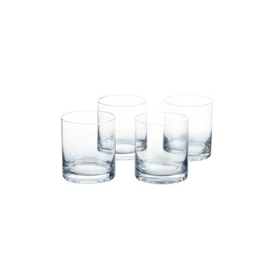 Skylar 12.4 fl. oz. Charcoal Gray Ombre Double Old-Fashioned Glasses (Set of 4)