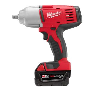 Milwaukee M18 18-Volt Lithium-Ion Cordless 1/2 inch Impact Wrench W/ Pin Detent Kit W/(2) 3.0Ah Batteries,... by Milwaukee
