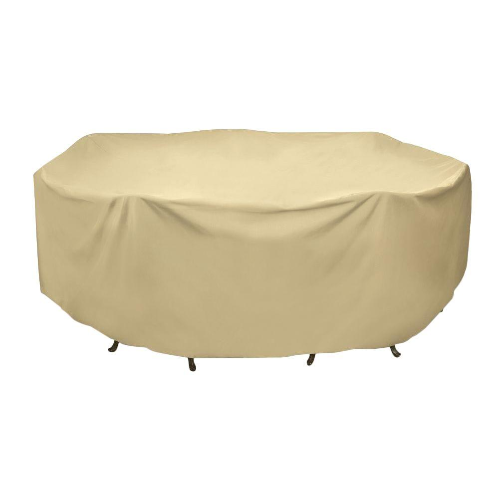 Round Patio Table Set Cover In Khaki