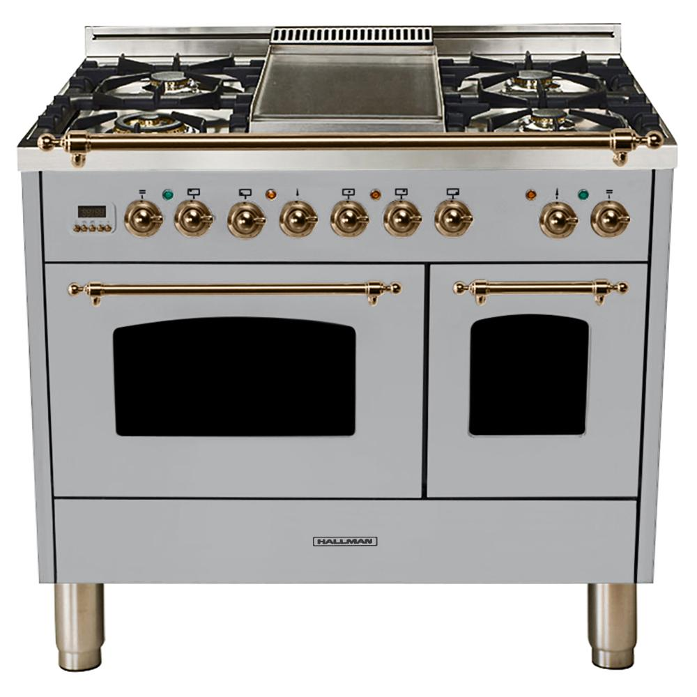 Hallman 40 In 4 0 Cu Ft Double Oven Dual Fuel Italian Range True