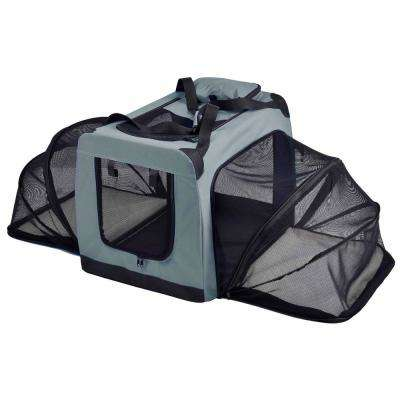 Hounda Accordion Metal Framed Collapsible Expandable Pet Dog Crate - Medium in Grey
