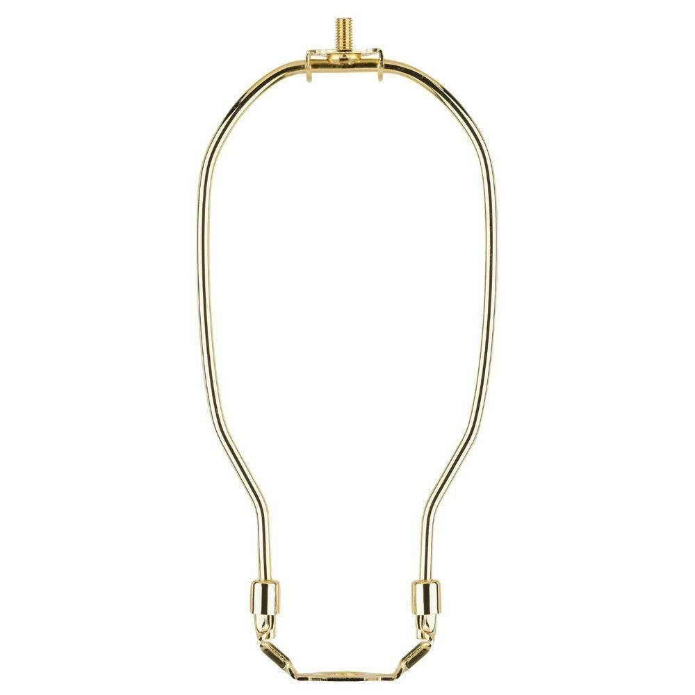 6-1/2 in. Polished Brass Detachable Harp (2-Piece)