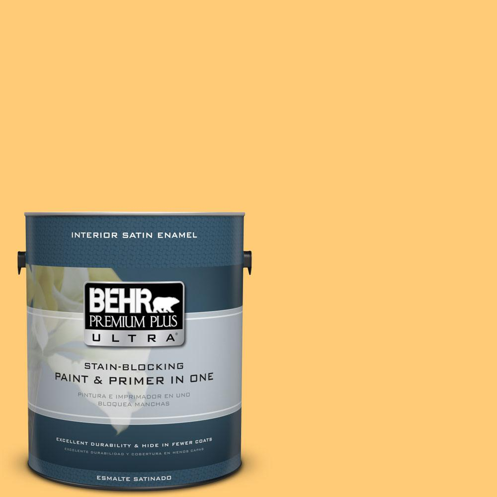 BEHR Premium Plus Ultra 1-gal. #310B-5 Spiced Butternut Satin Enamel Interior Paint