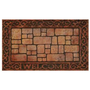Achim Paver Scroll 18 inch x 30 inch Raised Rubber Door Mat by Achim