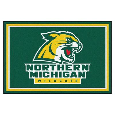 NCAA - Northern Michigan University Green 5 ft. x 8 ft. Area Rug