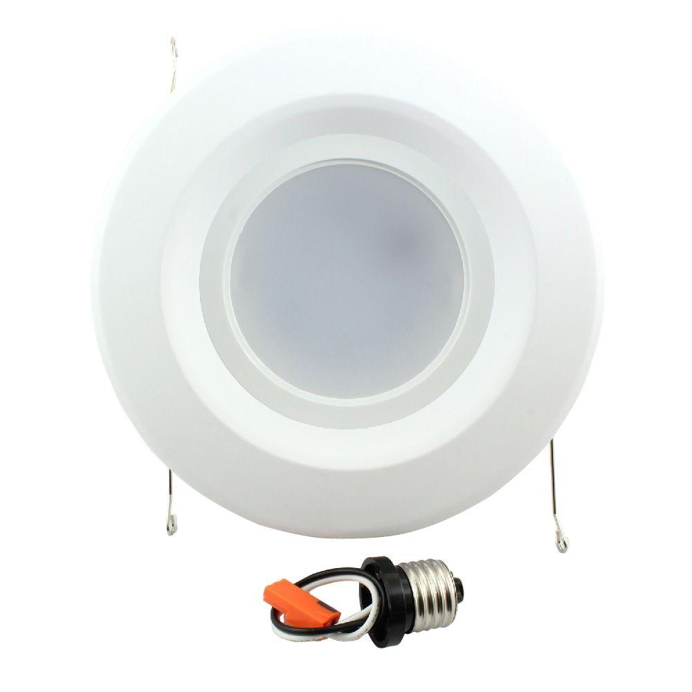 5 in. and 6 in. White Recessed LED Trim 90CRI, 2700K