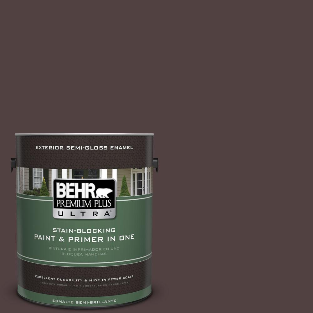 BEHR Premium Plus Ultra 1-gal. #BXC-87 Rich Bordeaux Semi-Gloss Enamel Exterior Paint