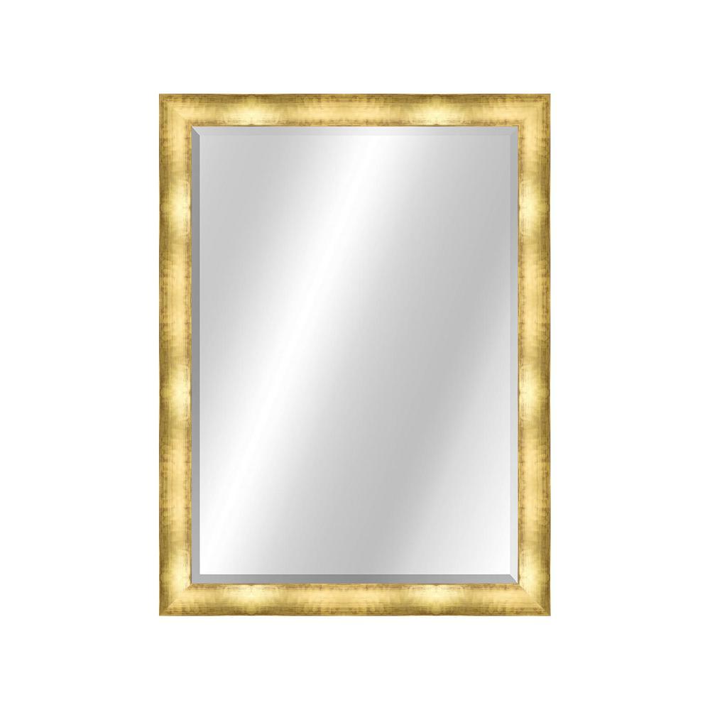 Modern 22 x 28 Contemporary Gold Framed Vanity Mirror