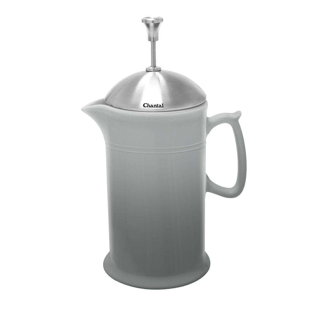 Chantal 28 oz. Ceramic French Press in Fade Grey was $49.99 now $39.95 (20.0% off)