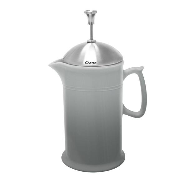 Chantal 28 oz. Ceramic French Press in Fade Grey 92-FP28 FG