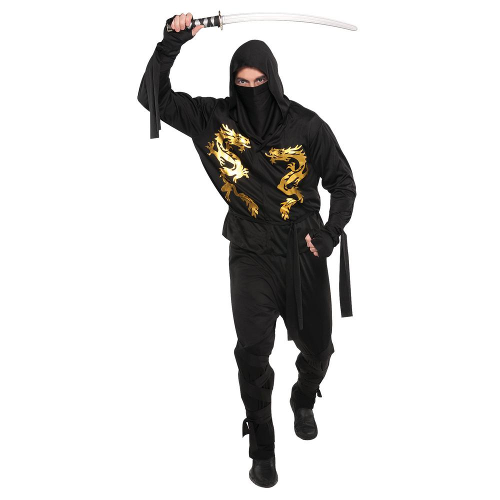 amscan black dragon ninja adult halloween costume standard-842875