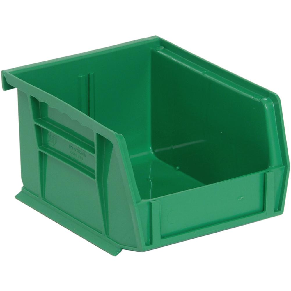 Ultra Series Stack and Hang 1.2 Gal. Storage Bin in Green