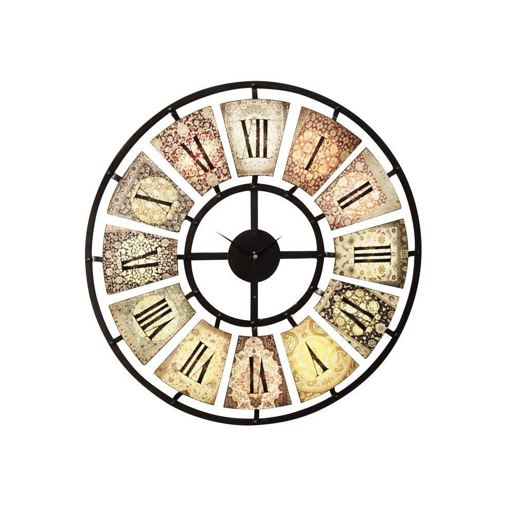 Home Decorators Collection 24 in. Multi Metal Wall Clock