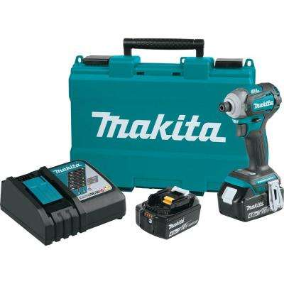 18-Volt LXT Lithium-Ion Brushless 1/4 in. Cordless Quick-Shift Mode 4-Speed Impact Driver w/ (2) Batteries 4.0Ah, Case