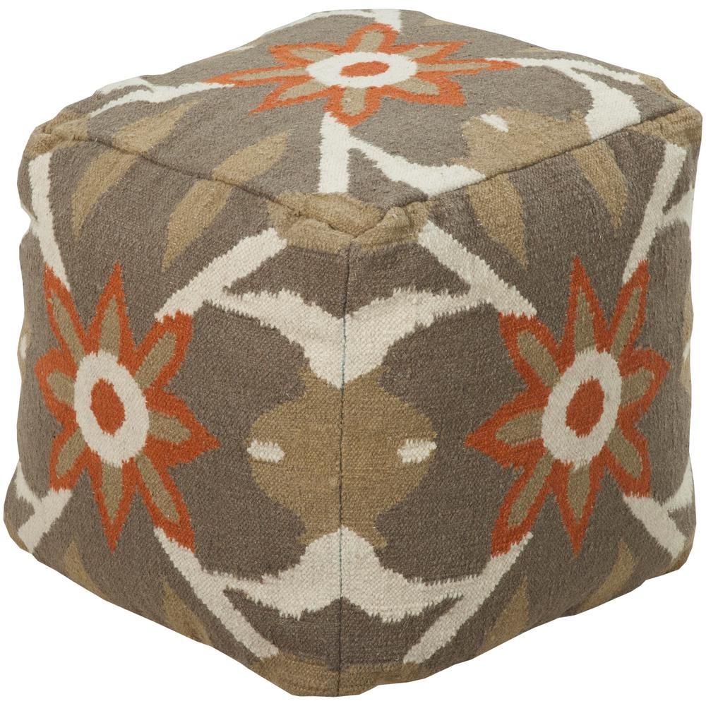 Artistic Weavers Syrinia Taupe (Brown) Accent Pouf Ottoman