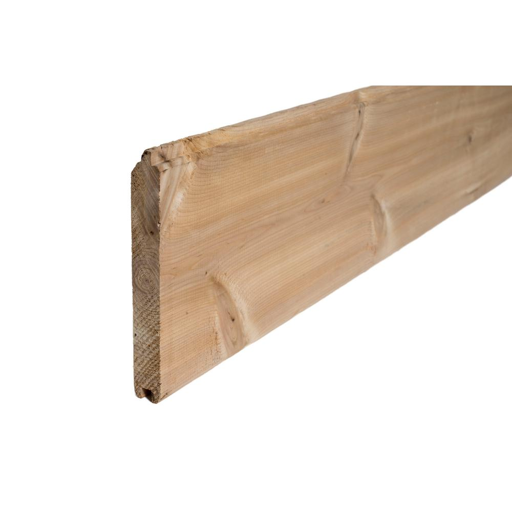 X 8 Ft Tongue And Groove Pattern Cedar