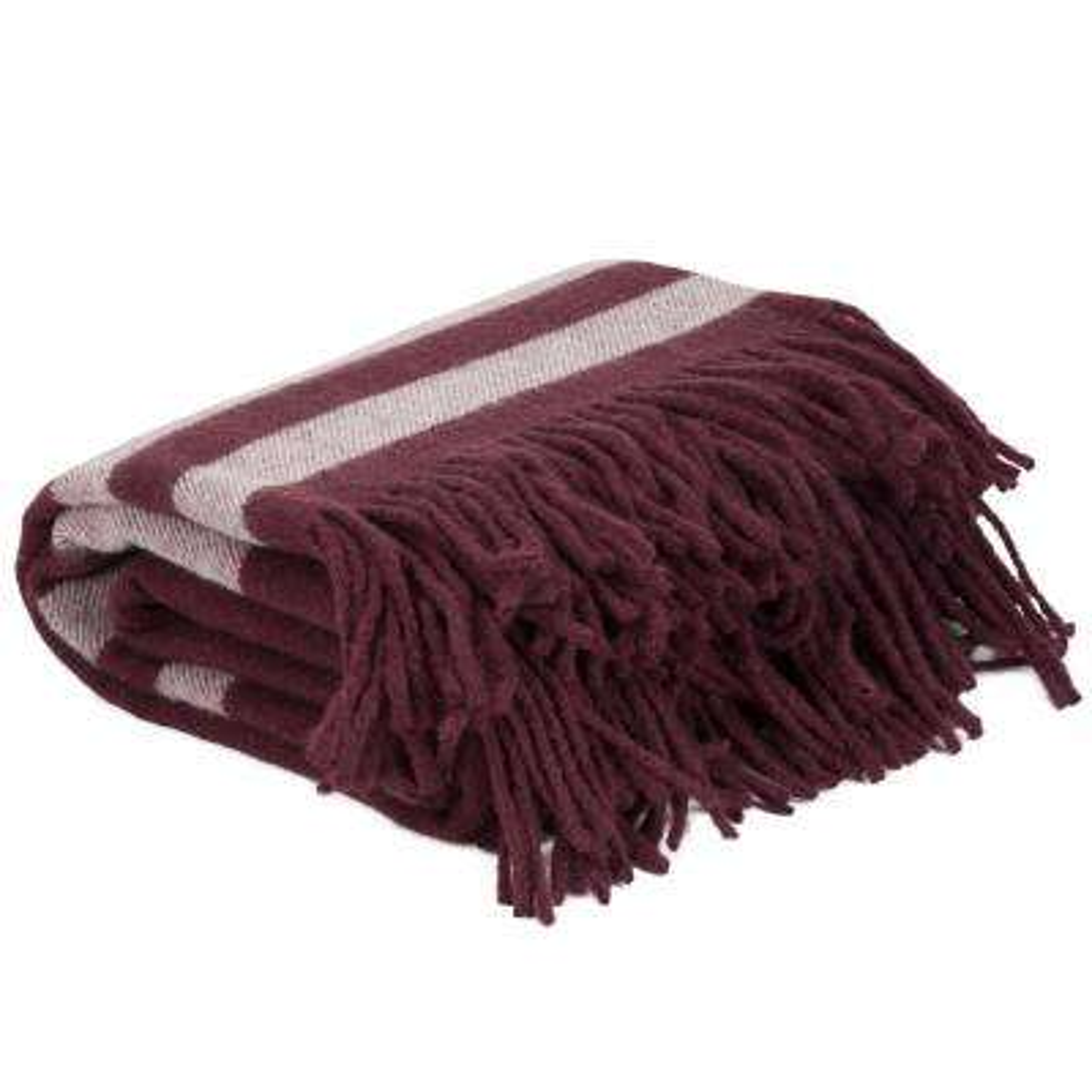 Burgundy Australian Wool Throw