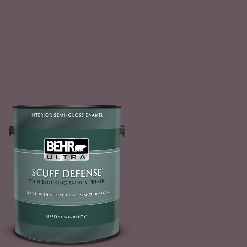 Behr Ultra 1 Gal N100 6 Urban Legend Extra Durable Semi Gloss Enamel Interior Paint Primer 375301 The Home Depot