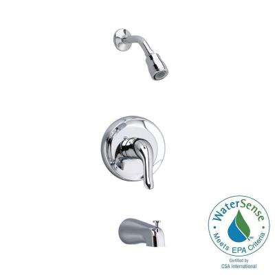 Colony Soft 1-Handle Tub and Shower Faucet Trim Kit in Brushed-Nickel (Valve Sold Separately)