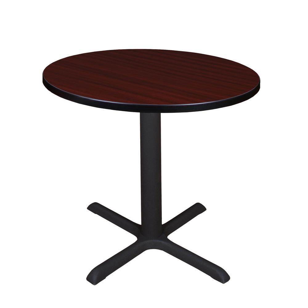 Cain Mahogany Round 30 in. Breakroom Table