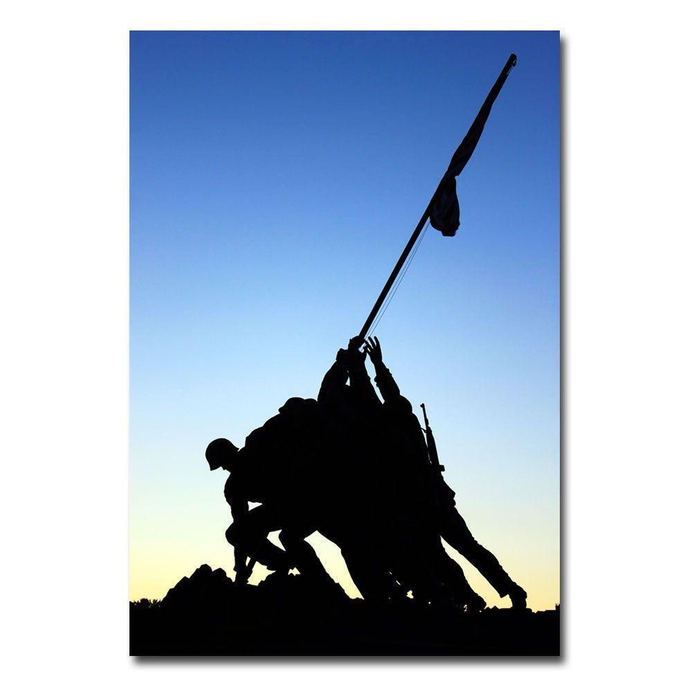 24 in. x 16 in. Iwo Jima Memorial Canvas Art