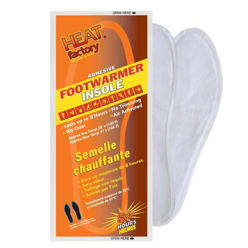 Heat Factory 7+ Hour Foot Warmer Insole Box, White