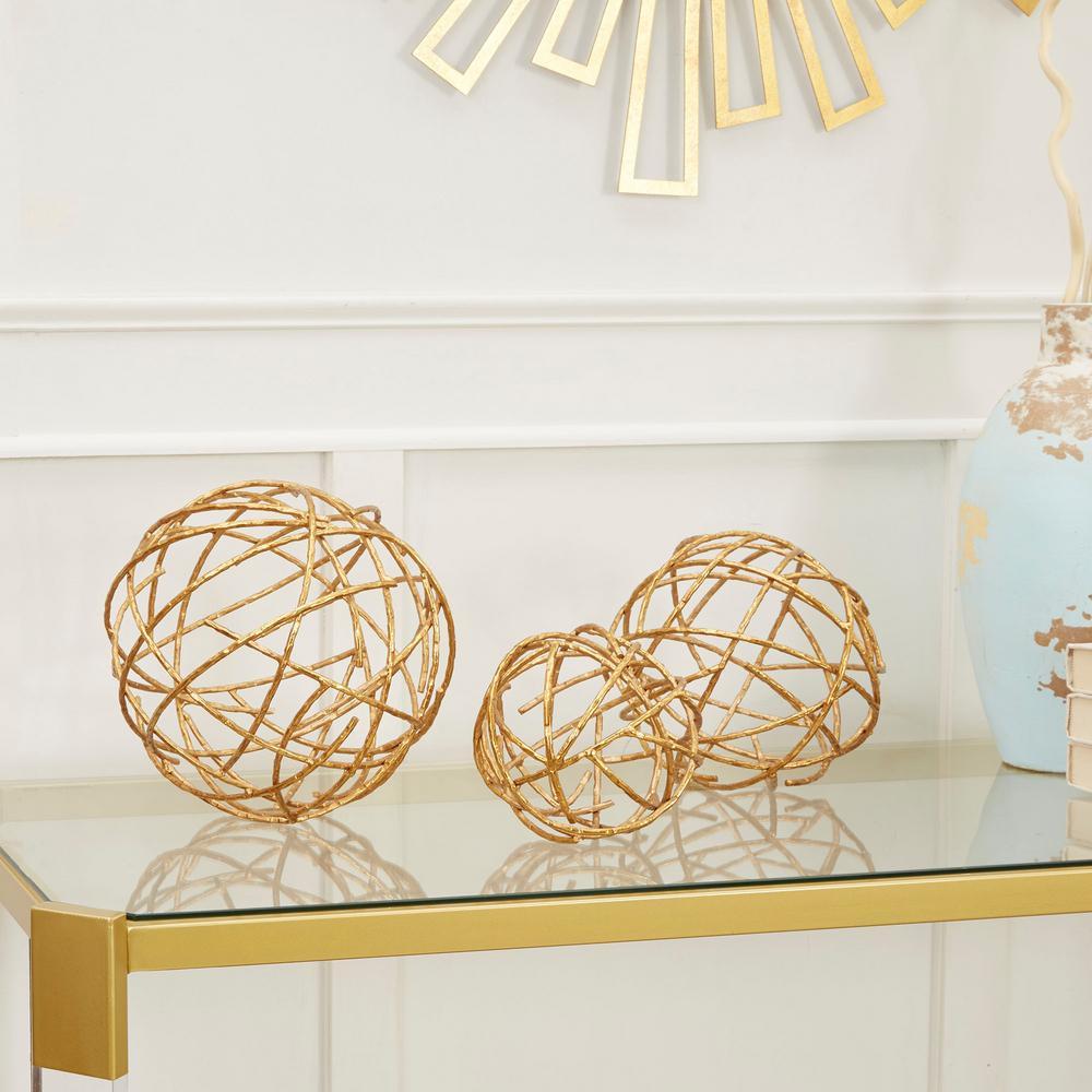 Twig Decorative Sphere Metal (Set of 3)