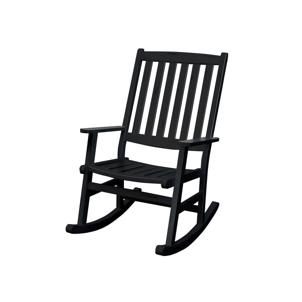 Home Styles Bali Hai Black Patio Rocking Chair