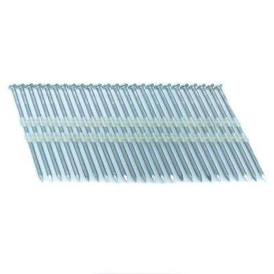3 in. x 0.121 in. 20-Degree Smooth Stainless Full Round Head Plastic Strip Nails 3000 per Box