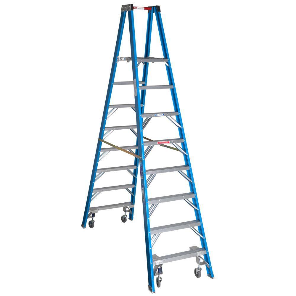 Werner 8 Ft Fiberglass Step Ladder With 250 Lb Load