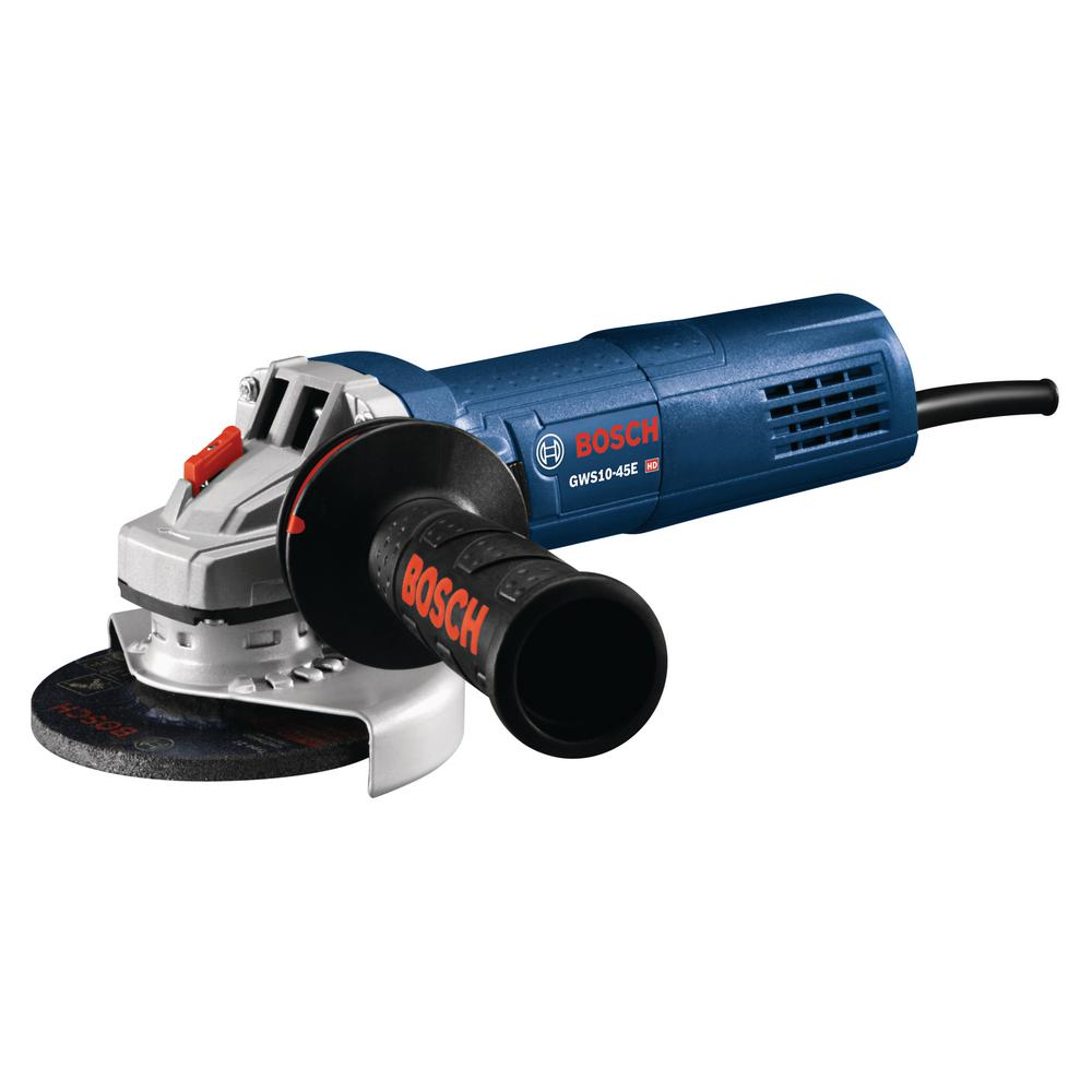 Bosch 10 Amp Corded 4 1 2 In Angle Grinder With Auxiliary