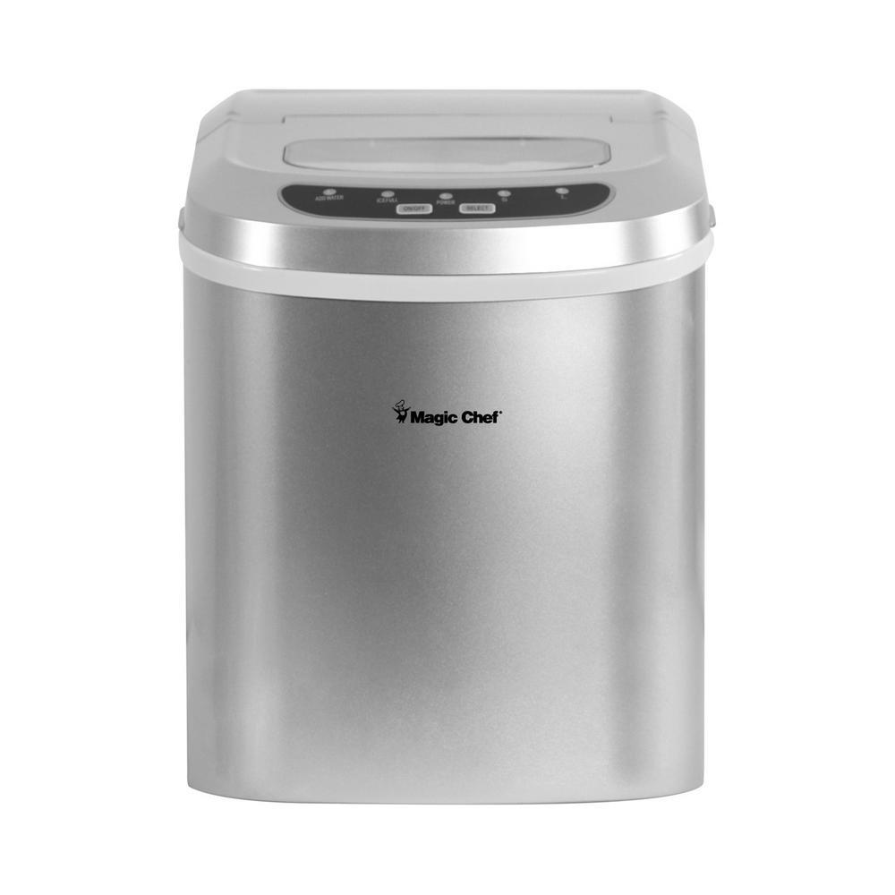 27 lb. Portable Countertop Ice Maker in Silver