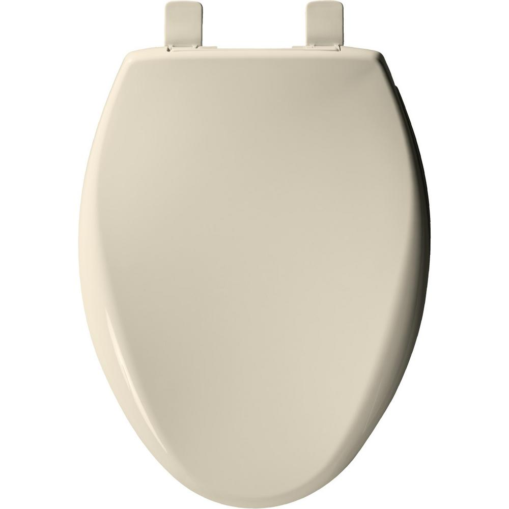 Admirable Church Affinity Elongated Closed Front Toilet Seat In Almond Inzonedesignstudio Interior Chair Design Inzonedesignstudiocom