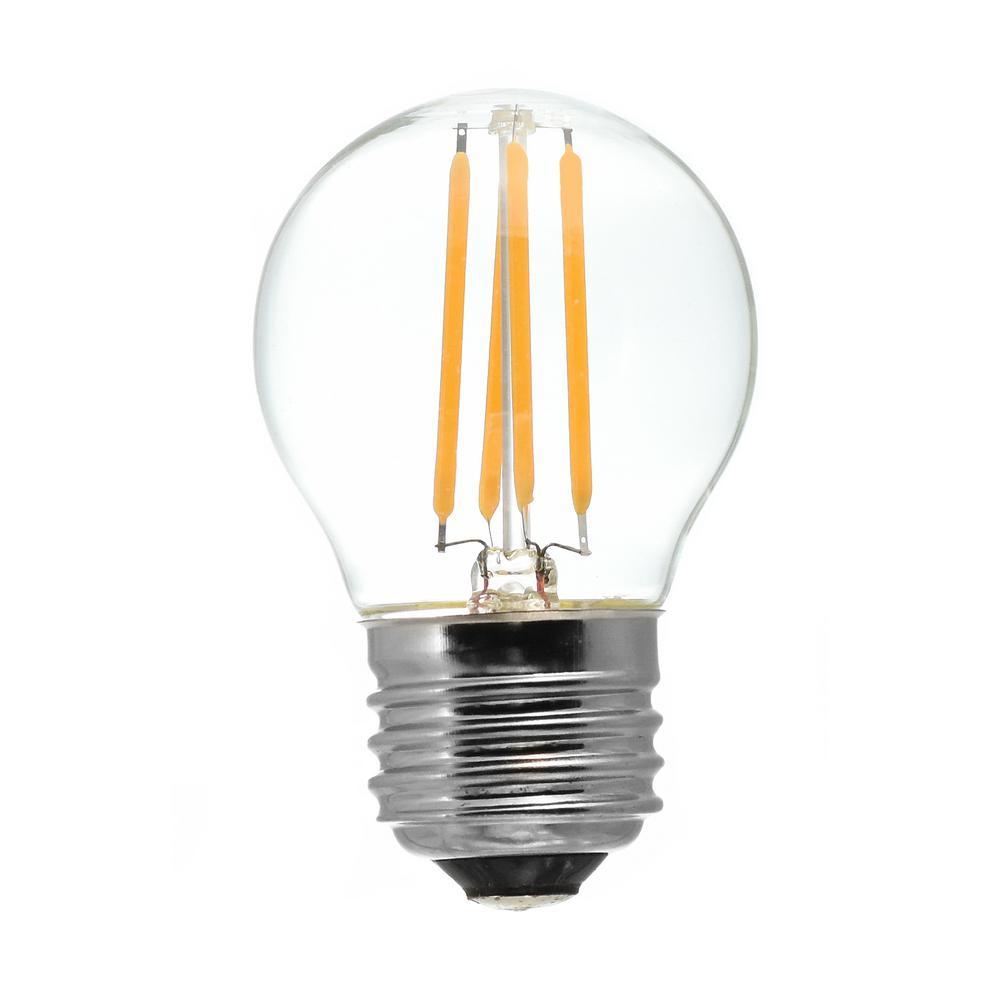 40-Watt Equivalent G16.5 Medium Base Dimmable Clear LED Light Bulb Antique White