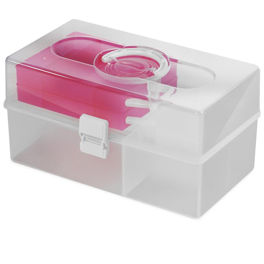 Livinbox 14.6 in. x 9 in. Hobby and Crafts Portable Storage Box with ...