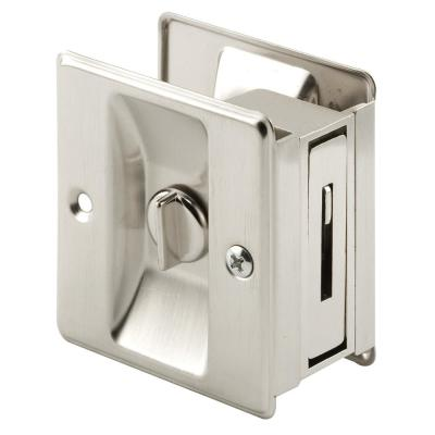 Satin Nickel, Pocket Door Privacy Lock