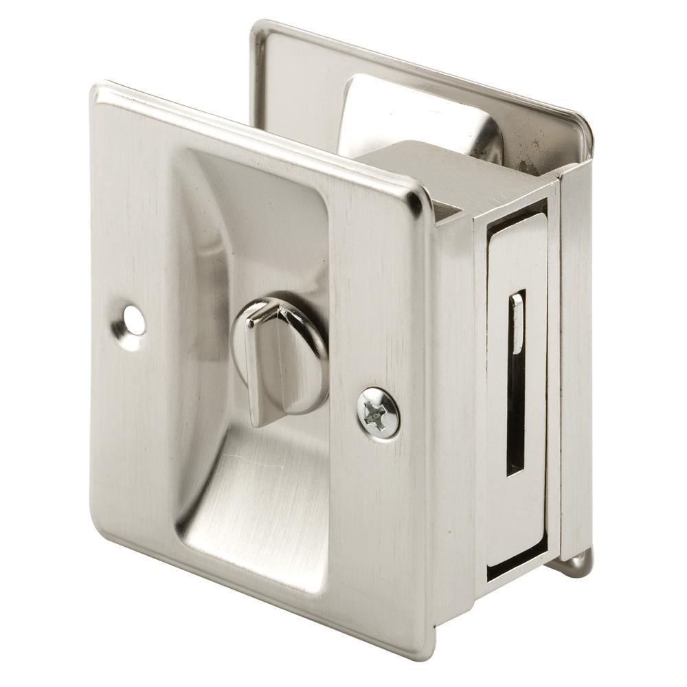 Satin Nickel, Pocket Door Privacy Lock