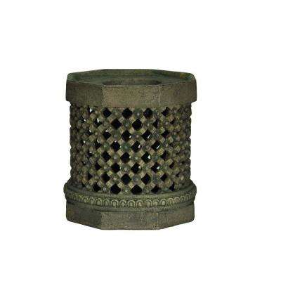8 in. H Cast Stone Nepal Candle Holder in Aged Granite Finish