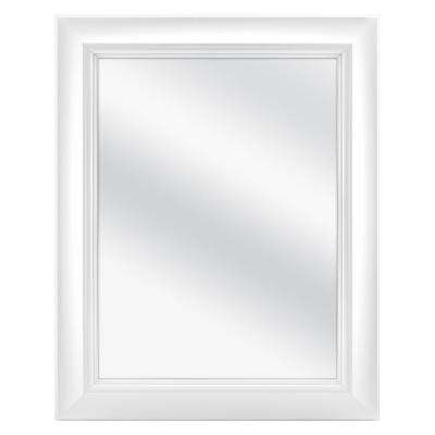 24 in. W x 30 in. H Fog Free Framed Recessed or Surface-Mount Bathroom Medicine Cabinet in White