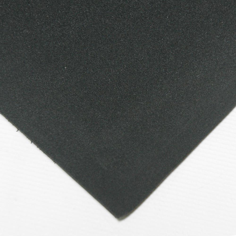 Closed Cell Sponge Rubber Neoprene 1/16 in. x 39 in. x 78 in. Black Foam Rubber Sheet