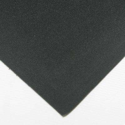 Closed Cell Sponge Rubber Blend 1/4 in. x 39 in. x 78 in. Black Foam Rubber Sheet