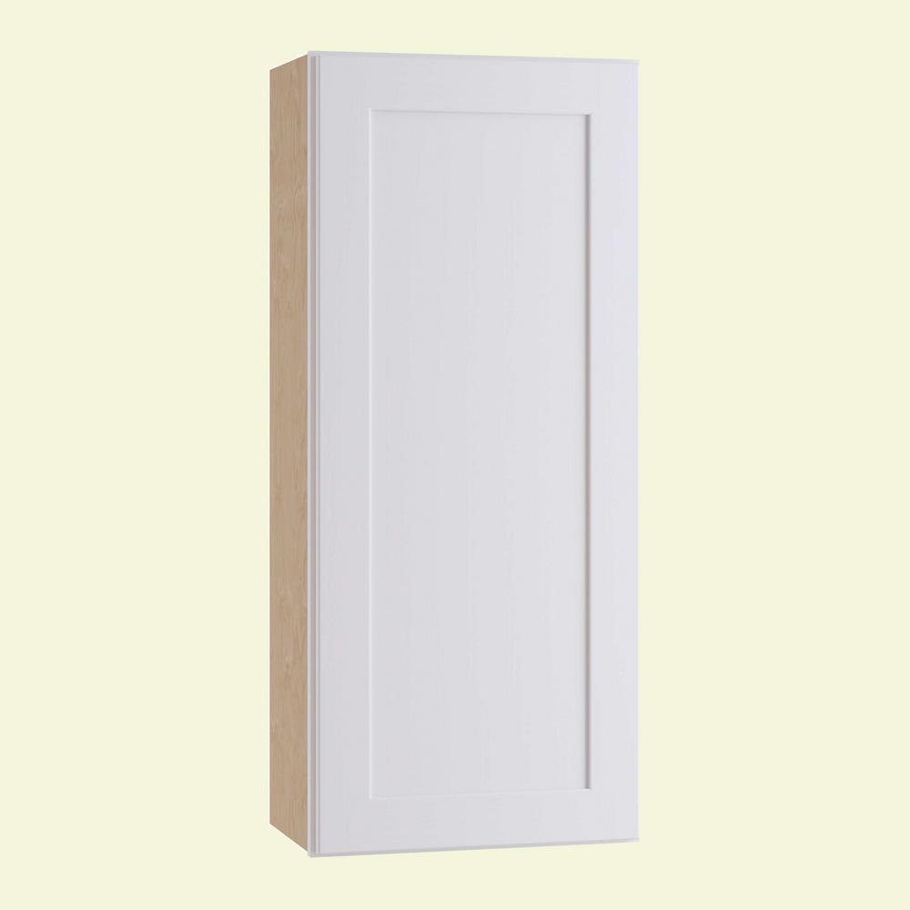 Home Decorators Collection Newport Assembled 21 in. x 42 in. x 12 in. Wall Kitchen Cabinet with 1 Door Left Hand in Pacific White