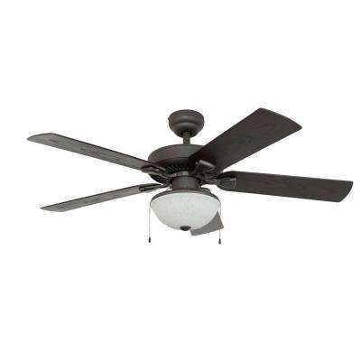 Bluff Cove 52 in. Outdoor Bronze Ceiling Fan