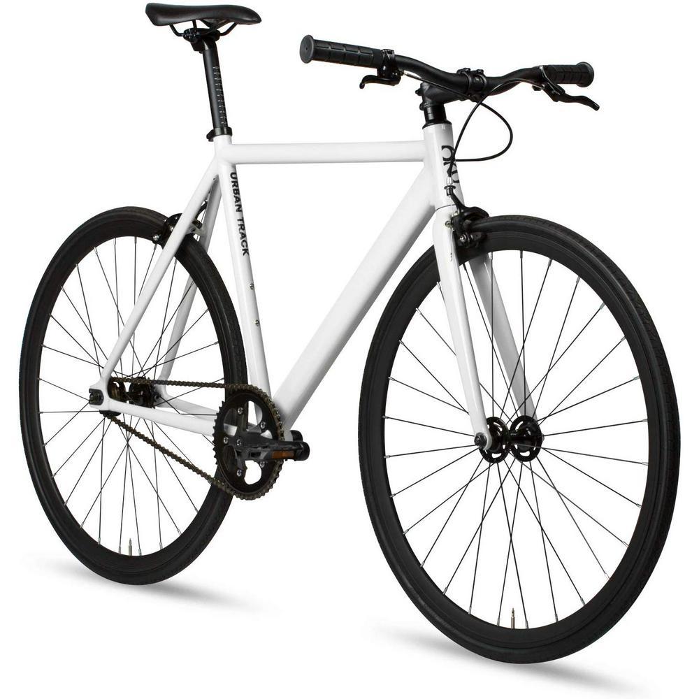 21 5 In Medium Aluminum Fixed Gear Single Speed Urban Track Bike In Crisp White 89547 6kuh