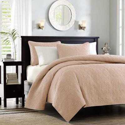 Mansfield 3-Piece Blush King/Cal King Reversible Mini Coverlet Set