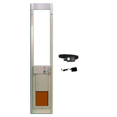 8-1/4 in. x 10 in. Power Pet Fully Automatic Patio Pet Door with Dual Pane Low-E Glass, Regular Track Height