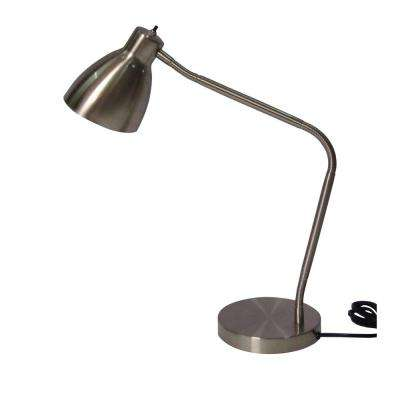 27.5 in. Satin Indoor Gooseneck Architect Desk Lamp