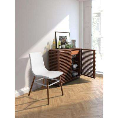 Linea Walnut Storage Console Table
