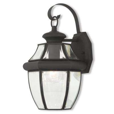 Monterey 1-Light Black Outdoor Wall Mount Lantern